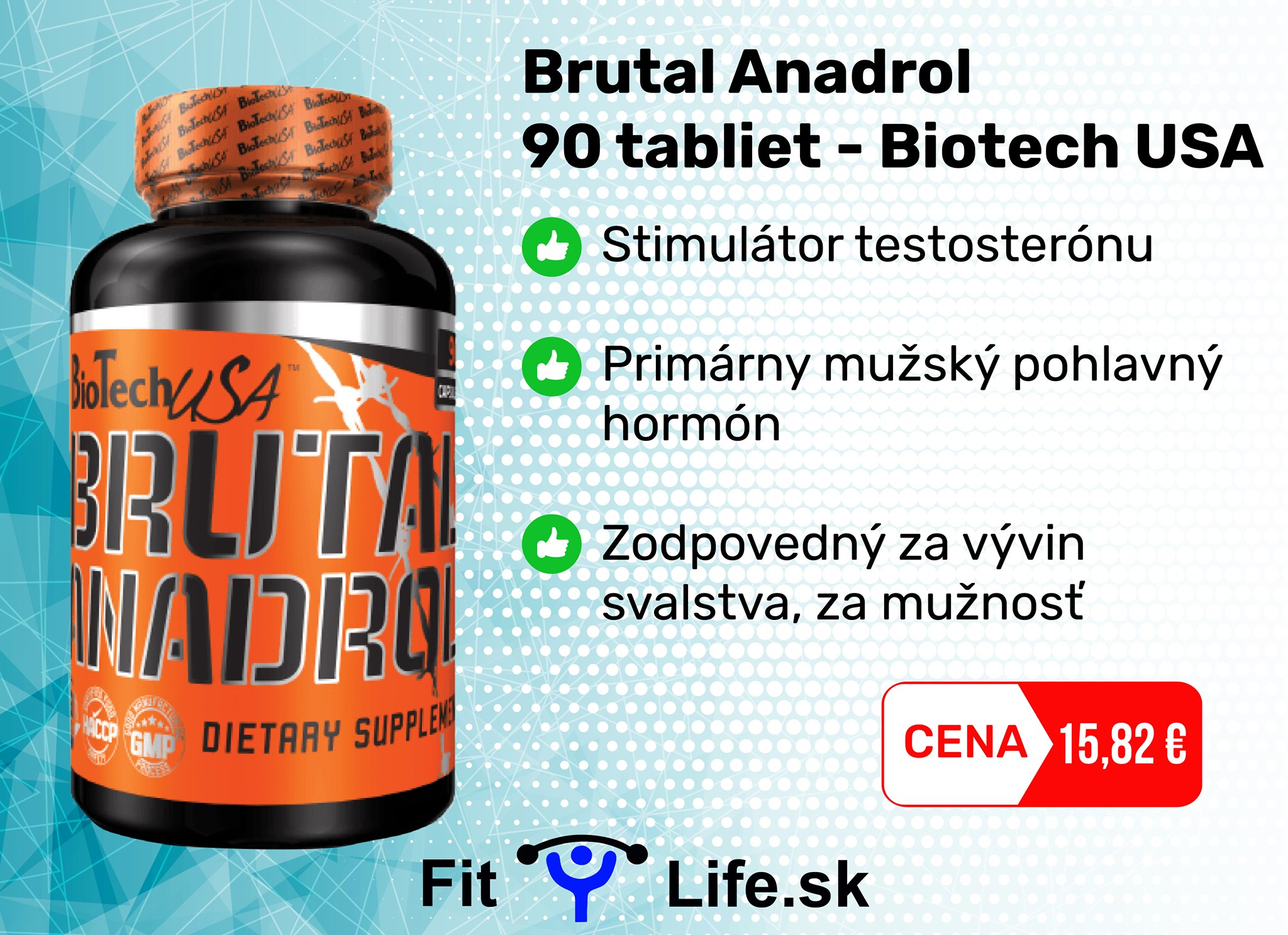 Fit Life - stimulanty a náhrada steroidov BiotechUSA